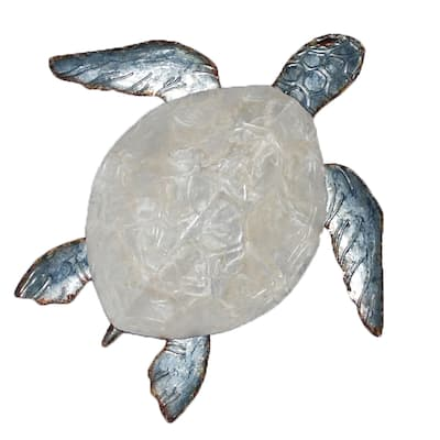 Sea Turtle Small Wall Decor With Pearl Shell