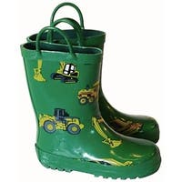Foxfire FOX-600-37-1 Childrens Camping Rain Boot, Green - Size 1