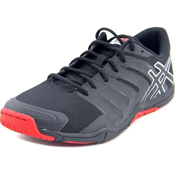 Asics Met Conviction Men Round Toe Synthetic Black Running Shoe