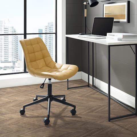 Porch & Den Armless Upholstered Swivel Office Task Chair