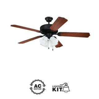 "Ellington Fans E203 Pro 52"" 5 Blade Indoor Ceiling Fan - Light Kit Included"