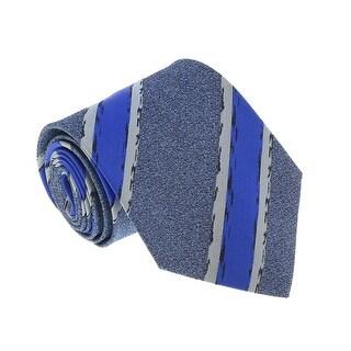 Missoni U4803 Blue Repp 100% Silk Tie - 60-3