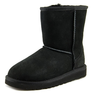 Ugg Australia Kids Classic Round Toe Suede Winter Boot