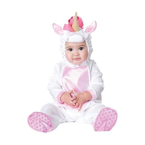 Magical Unicorn Deluxe Infant Toddler Costume - White