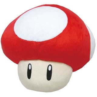 "Super Mario Bros. 11"" Large Pillow Plush: Super Mushroom - multi"