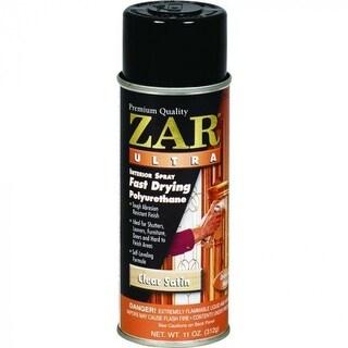 ZAR 32907 Ultra Interior Oil-Based Fast Drying Polyurethane Aerosol, Satin, 11 Oz