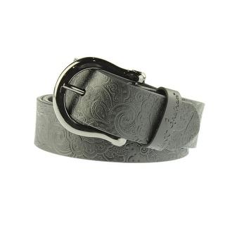Robert Graham Mens Vince Leather Embossed Casual Belt