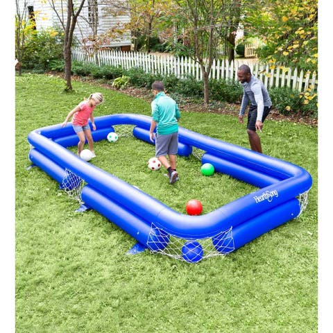 HearthSong 14-ft. x 7-ft. Inflatable Soccer Pool Game - One-size
