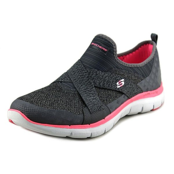 Skechers Flex Appeal 2.0-New Image Women Round Toe Synthetic Gray Sneakers