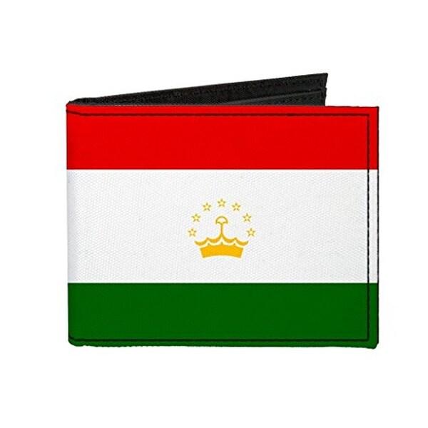 Buckle-Down Canvas Bi-fold Wallet - Tajikistan Flag Accessory