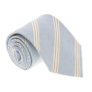 Missoni U4221 Regimental Sky Blue/White 100% Silk Tie - 60-3