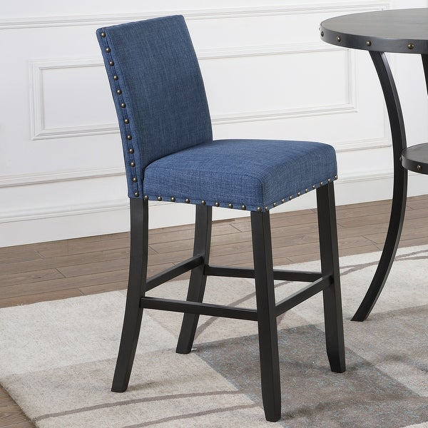 Biony Fabric Bar Stools with Nailhead Trim (Set of 2). Opens flyout.