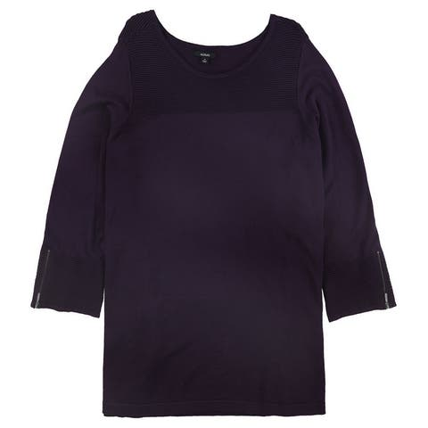 Alfani Womens Ribbed Tunic Sweater