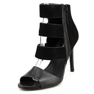 Charles David Itano Women Open-Toe Suede Black Heels