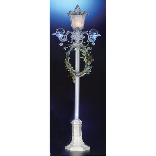 "Icy Crystal Illuminated Decorative Christmas Street Lamp 39"" - CLEAR"
