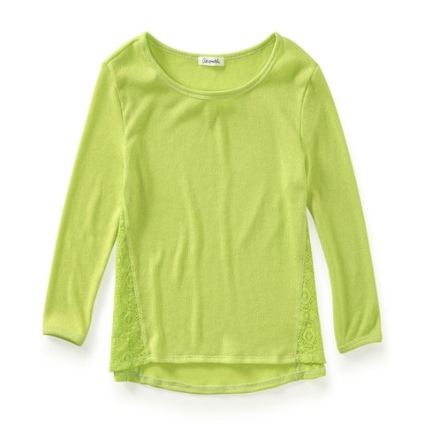 Aeropostale Womens Solid Ls Knit Sweater