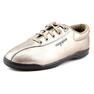 Easy Spirit Ap1 Women  Round Toe Leather Silver Walking Shoe
