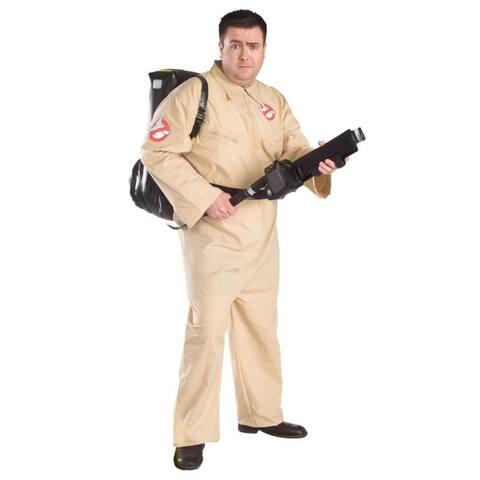 Beige and Black Ghostbusters Men Adult Halloween Costume - N/A