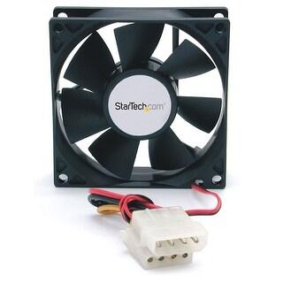 Startech.Com 80X25mm Dual Ball Bearing Computer Case Fan With Lp4 Connector Fanbox (Black)