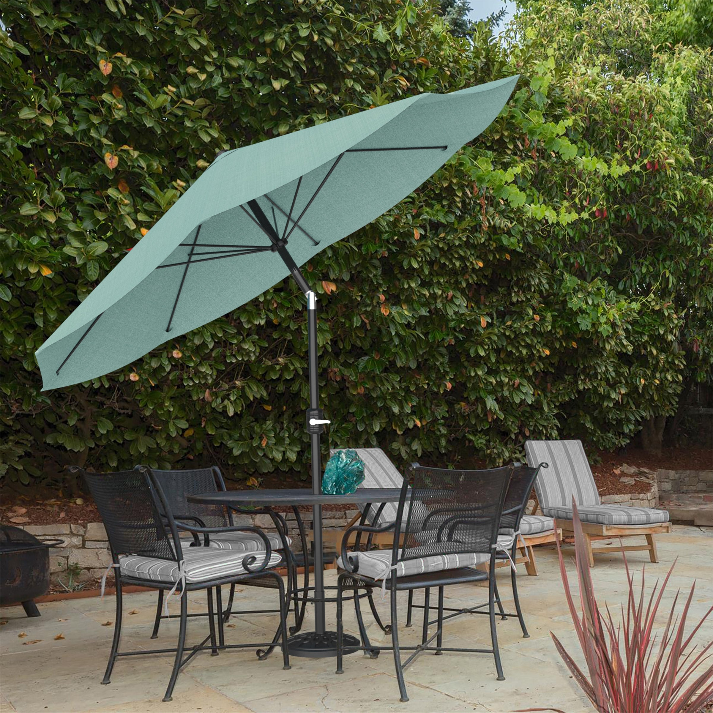 8ft Patio Umbrella with Auto Tilt by Pure Garden, Base Not Included