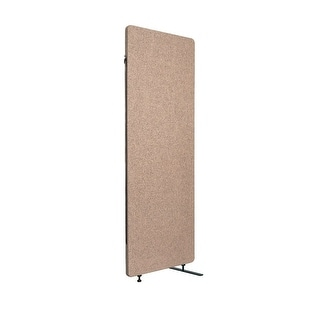 Offex Wall Partition Privacy Screen Freestanding Acoustic Room Divider, Expansion Panel for Office, Classroom - Desert Sand