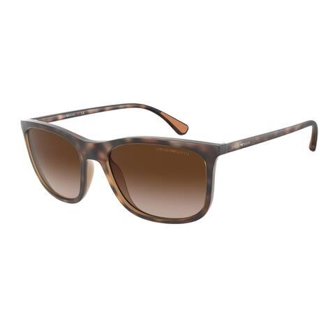 Emporio Armani EA4155 508913 57 Matte Havana Man Pillow Sunglasses