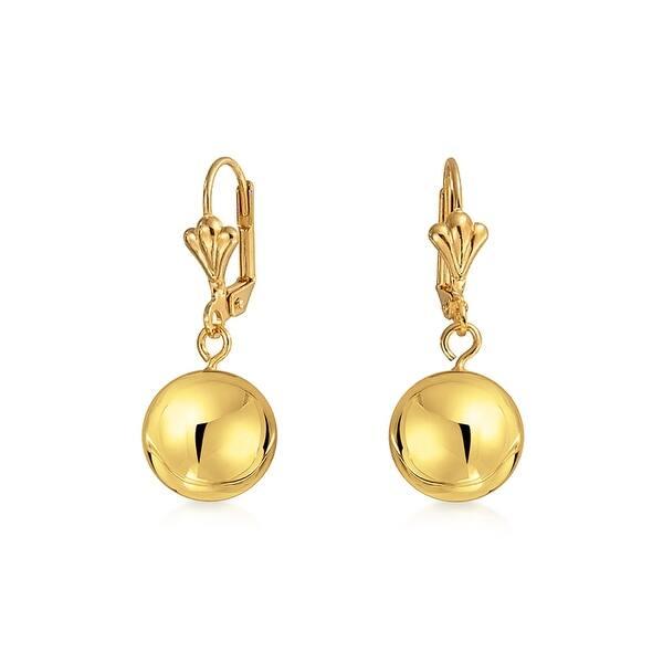 Dangle Leverback Drop Ball Earrings