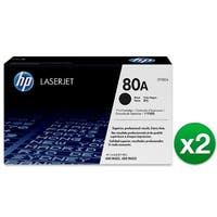 HP 80A Black Original LaserJet Toner Cartridge (CF280A)(2-Pack)