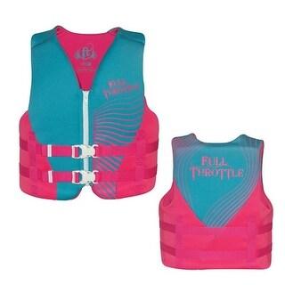 Full Throttle Rapid-Dry Life Vest - Blue/Pink Rapid-Dry Life Vest