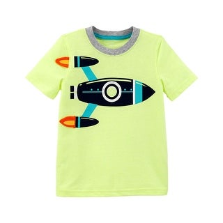 Carter's Little Boys' Neon Rocket Ship Tee, 2-Toddler