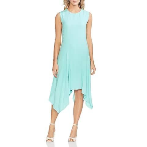 Vince Camuto Womens Midi Dress Textured Asumetric