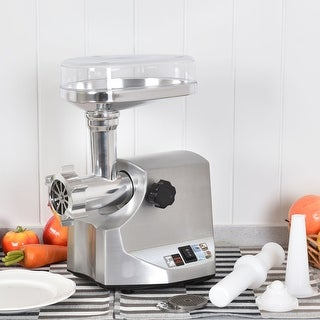 Costway 2400W Electric Meat Grinder Stainless Steel Sausage Stuffer Maker Home Use