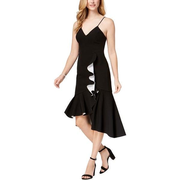 Bardot Womens Kiki Cocktail Dress Hi-Low Midi