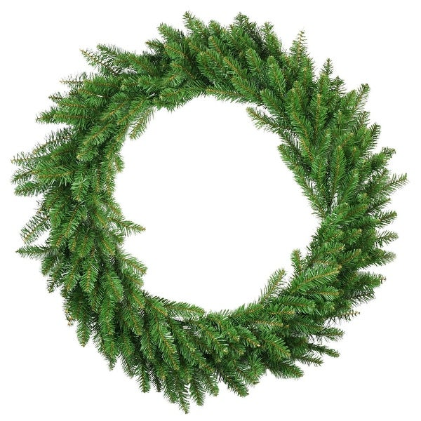"48"" Eastern Pine Artificial Christmas Wreath - Unlit - green"