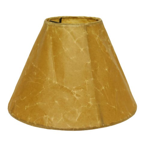 Cloth & Wire Slant Empire Softback Lampshade with Bulb Clip, Brown