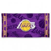Los Angeles Lakers Shadow Logo Beach Towel - Purple