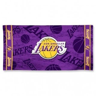 Los Angeles Lakers Shadow Logo Beach Towel