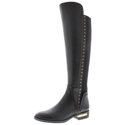 Vince Camuto Womens Pardonal Over-The-Knee Boots Leather Studded