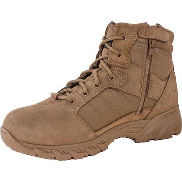 coyote brown boots side zip