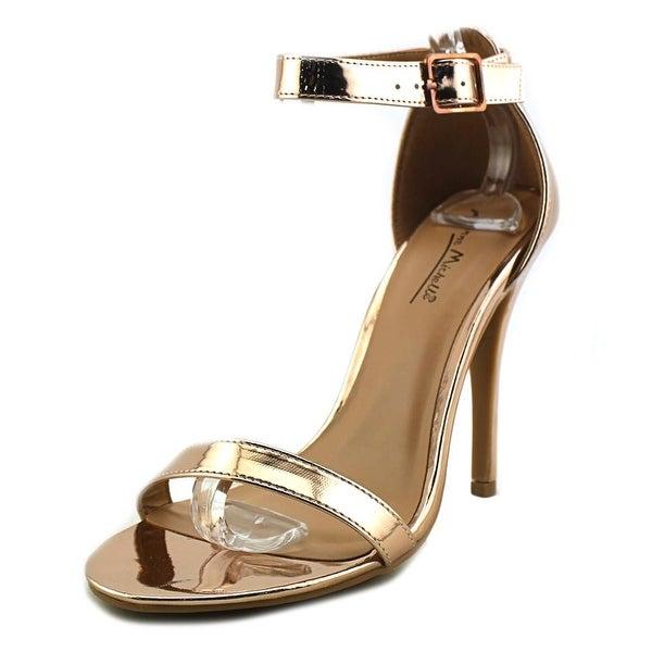 Anne Michelle Girltalk Women Open-Toe Synthetic Gold Heels