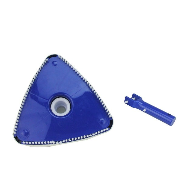 "10.5"" Triangular Weighted Swimming Pool Vacuum Head with Swivel Cuff and Bumper - Blue"