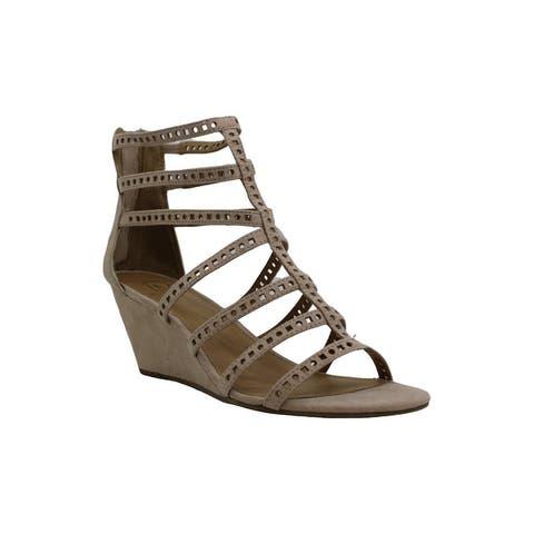 Material Girl Womens Harriette Fabric Open Toe Casual Platform Sandals