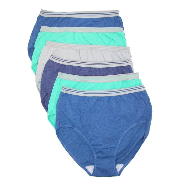 dc28fa3298a3 Shop Fruit of the Loom Women's Bright Heather Brief Underwear (6 ...