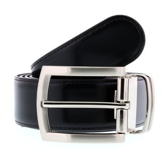 HS Collection HSB 3001 Black/Brown Reversible/Adjustable Mens Belt
