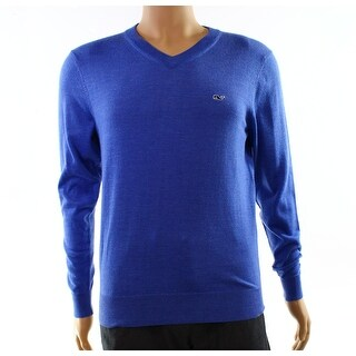 Vineyard Vines NEW Blue Mens Size XS Solid Ribbed V-Neck Sweater
