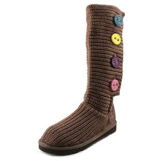 Ugg Australia Cardy II Youth Round Toe Canvas Snow Boot
