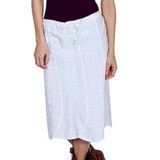Scully Western Skirt Womens Cantina Embroidery M White PSL-188