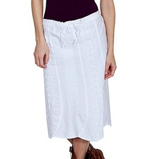 Scully Western Skirt Womens Cantina Embroidery Uneven Hemline PSL-188