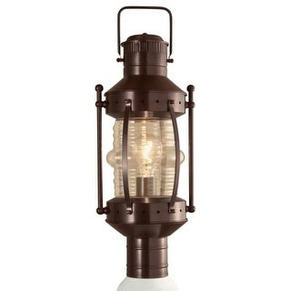 "Norwell Lighting 1107 Seafarer Single Light 21"" Tall Outdoor Post Light with Clear Glass Shade - bronze with clear glass"