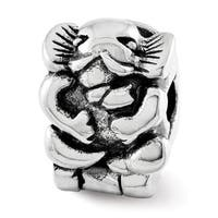 Sterling Silver Reflections Kids Elephant Clip Bead (4mm Diameter Hole)